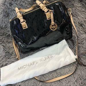 Michael Kors Black Logo Duffel Crossbody Hand Bag